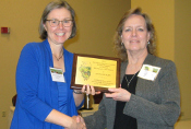 Charlene Blary (right) receives the 2014 Award of Excellence  (175x118)