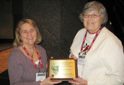 Dorothy Shiley (right) receives the 2011 Award of Excellence (175x120)