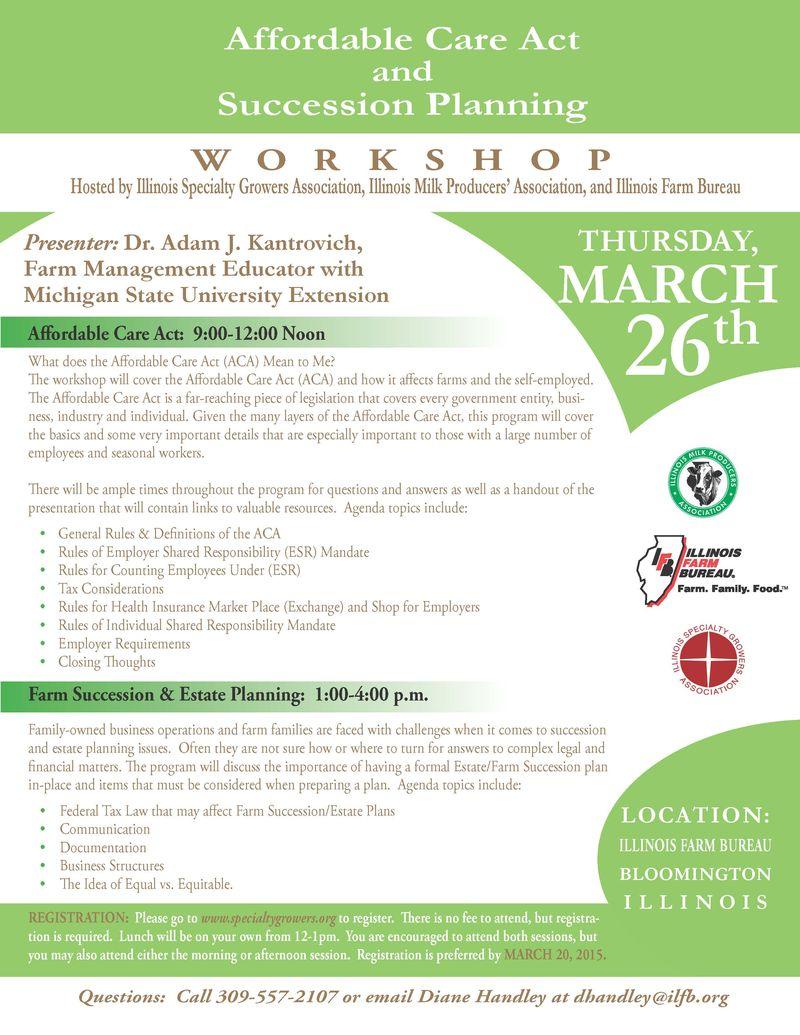 Affordable Care Act Workshop Flyer