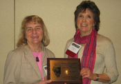 Deborah Lee (right) receives the 2012 Award of Excellence (175x122)