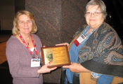 Caroline Schertz (right) receives the 2011 Award of Excellence (175x120)
