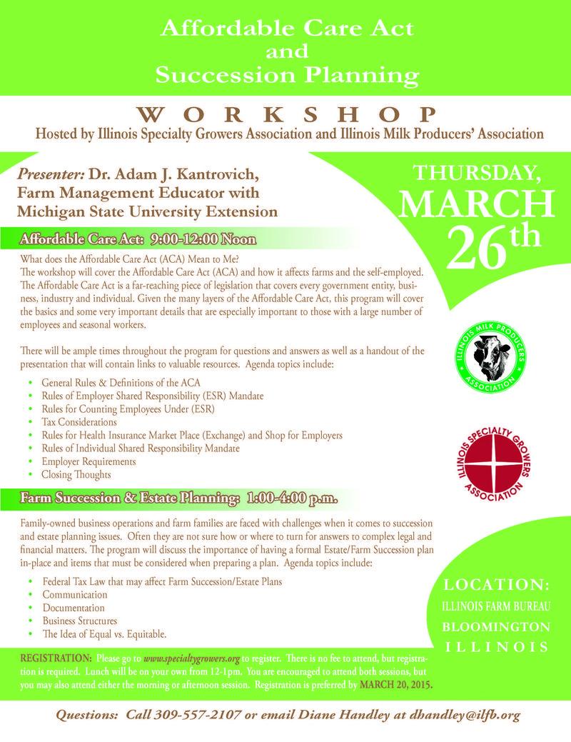 Affordable Care Act Workshop Flyer1