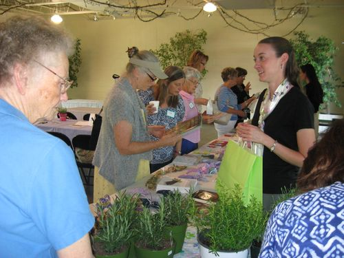 Attendees shop for Lavender products